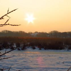 Zonsondergang op Lentevreugd Wassenaar