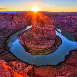 sunset horse shoe bend