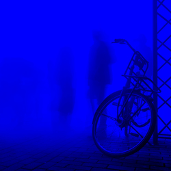 bicycle in blue