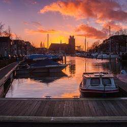 Sunset @ Dordrecht harbor