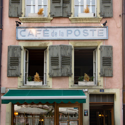Nostalgisch cafeetje in Zwitserland
