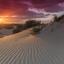 Zonsondergang in Westduinpark