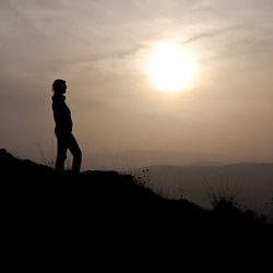 Silhouette in Andalusië