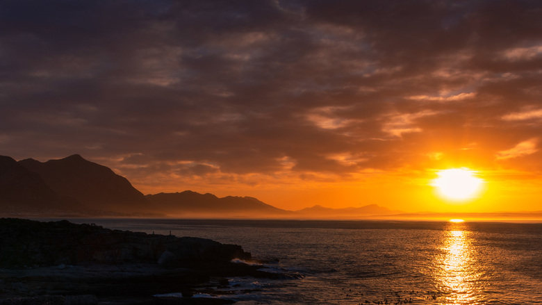 Zonsondergang Hermanus, Zuid Afrika -