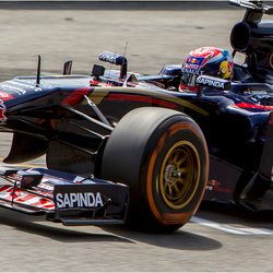 Max Verstappen in aktie op de Gamma racing day.