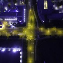 Nachtelijk kruispunt