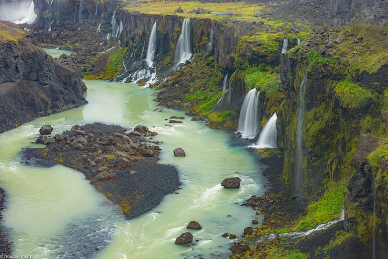 Sigolduglufur - De prachtige waterval in het binnenland van IJsland,Sigolduglufur