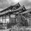 Huis in Japan zwart wit