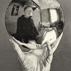 Selfie op Escher tentoonstelling