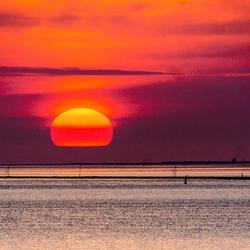 ondergaande zon Harlingen 1