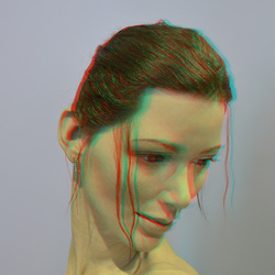 Lily by Jamie Salmon in 3D anaglyph