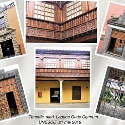 collage   Tenerife sfeertje   Stad Laguna  oude Centrum 21 mei 2019