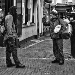 Gesprek op straat