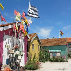 Ile d'Oléron, kleurige vissershuisjes