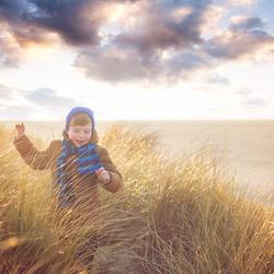 Rennen door de duinen