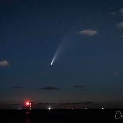 de Komeet C-2020 F3 (NEOWISE) aan de Maasvlakte