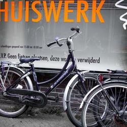 verboden voor fietsen?