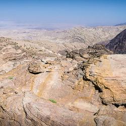 Uitzicht op de Jordaan Vallei Jordanië