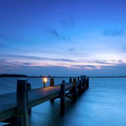Zonsondergang over het Lauwersmeer