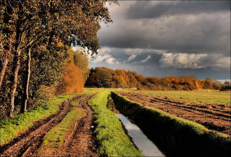 Luchten en herfstkleuren - Een volgende opname gisteren bij Loppersum