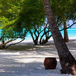 De omgeving op het eiland Meeruh