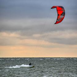 Kitesurfen op het IJsselmeer