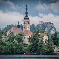 Bled kerk en Burcht