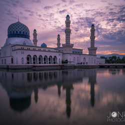 Floating Mosque in Kota Kinabalu, Borneo