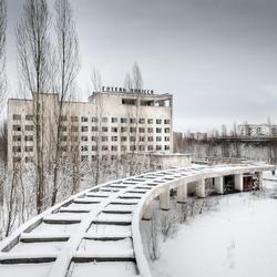 Pripyat in de sneeuw