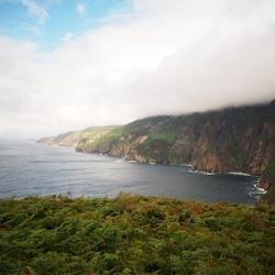 zee, land, wolken