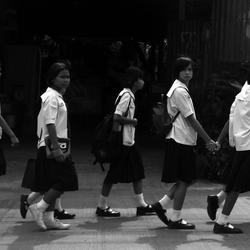 Schoolkinderen in uniform