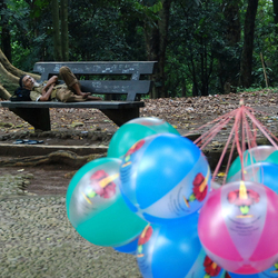 Rustende Ballonnenverkoper