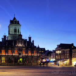 Delft during blue hour.......