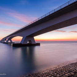 Zeelandbrug at sunrise