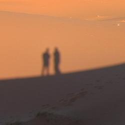 schaduw in het zand
