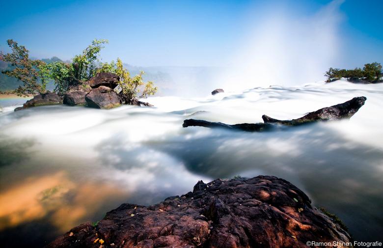 Victoria Falls - Boven op de Victoria Falls in Zambia, Afrika