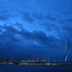 Skyline Rotterdam by night