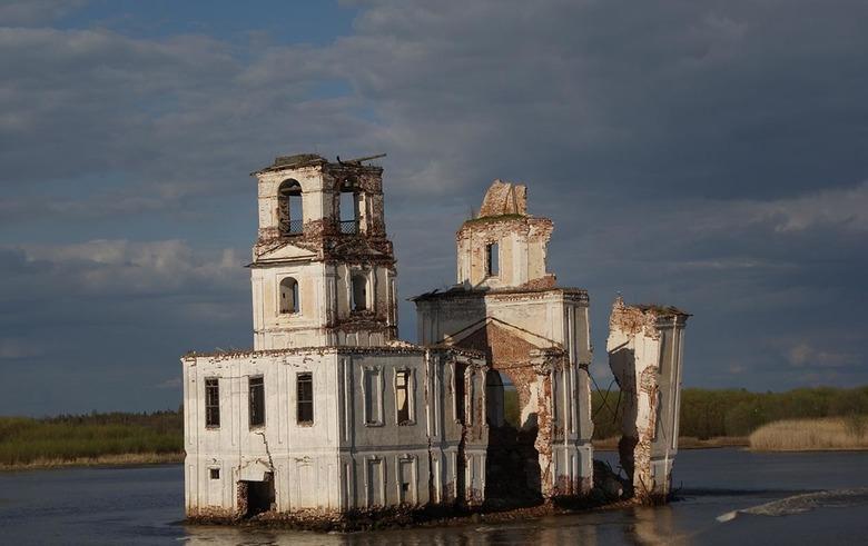 op weg naar Kizhi island - Op weg met de boot van Moskou naar Kizhi.