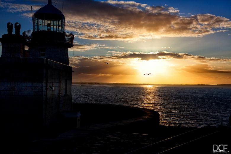 Sunset @ Howth, Co. Dublin, Ierland - Deze foto is gemaakt bij het avondlicht in County Dublin in het plaatsje Howth, 30 km van de hoofdstad.