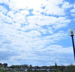 Een blauwe lucht