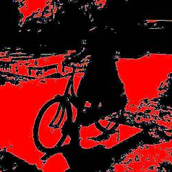 al fietsend is het nog warm