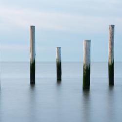 Palen in de zee