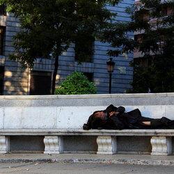 Zwerver in Madrid