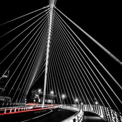 Le pont a la gare des Guillemins a Liege.