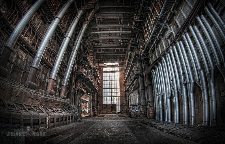 Verlaten energiecentrale