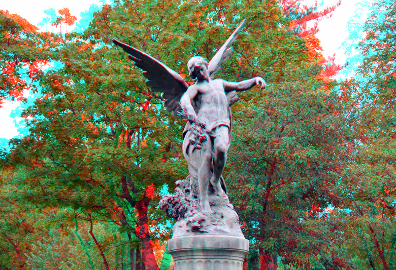sculpture Parijs 3D - paris  anaglyph stereo red/cyan