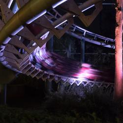 rollercoaster by night Efteling