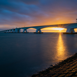 Sunset Zeelandbrug