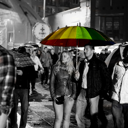 Shelter under a rainbow