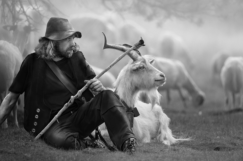 The Shepherd - Een manipulatie van twee foto's.